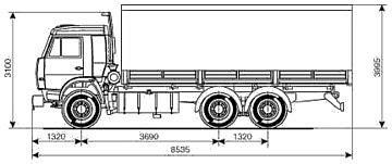 Чертеж КАМАЗ-53215-052-15