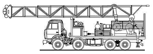 Агрегаты для ремонта неф тегазовых скважин.  Каталог автомобилей и спецтехники.  Установка подъемная УПА-60А (на базе.