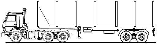 ...4–14 м различного диаметра по дорогам общего пользования (при соблюдении габаритов) и... КАМАЗ-54115.